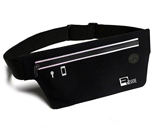Mp3-player Case Pack (Running Gürteltasche / Laufgürtel / Sports Hüfttasche für iPhone X/8/7/6 & Samsung Galaxy S8/S7/S6. Slim Fitness geldgürtel Joggen Lauftasche Schwarz)