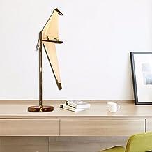 Por la sencillez de la moderna lámpara de hierro forjado DECORATIVA Lampara Lampara de la mesilla lámpara Lampara de pajaro de origami: la sala de estar ...