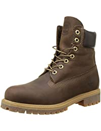 Timberland 6in premium boot, Chaussures montantes homme - Marron (Brown Burnished Full Grain)
