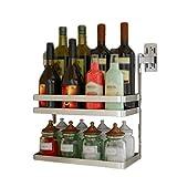Spice Rack Kitchen Rack 304 Edelstahl Hängende Wand Montiert Multifunktionsspeicher 32 * 15.5 * 23cm Xin