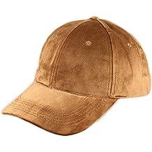 Westeng Gorra Béisbol Algodón Vigilancia Casual Ajustable Sombrero Hip-Hop Headdress Color Sólido Hombres Mujeres, 1Pcs