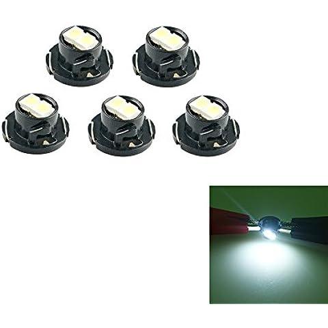 10piezas coche automático Neo Wedge LED T4.72SMD limpieza instrumento indicador Cluster Dash Light Gauge lámpara blanco