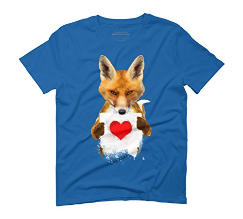 Fox I Love You Men's Graphic T-Shirt - Design By Humans Royal Blue