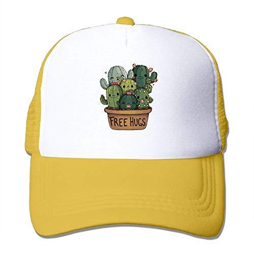 87b6545b96e52c Wdskbg Cactus Free Hugs Adjustable Sports Mesh Baseball Caps Trucker Cap  Sun Hats Design9