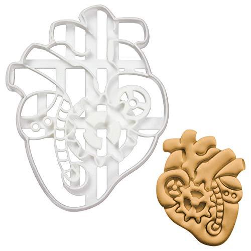 Bakerlogy Steampunk-Herz Ausstechform, 1 Teil, Ideal für die selbstgestaltete Dampfzeitalter Themenparty inspiriert von der Viktorianischen Zeit (Roboter-cookie-cutter)