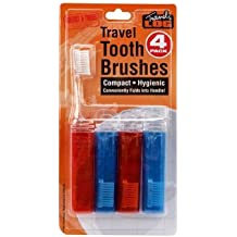 Compact Travel Tooth Brushes 4 Pack