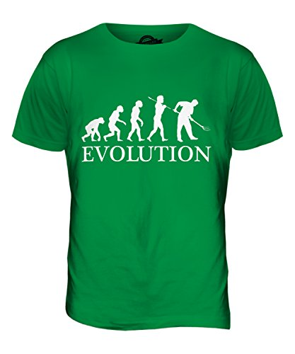 CandyMix Gärtner Gartenarbeit Evolution Des Menschen Herren T Shirt Grün