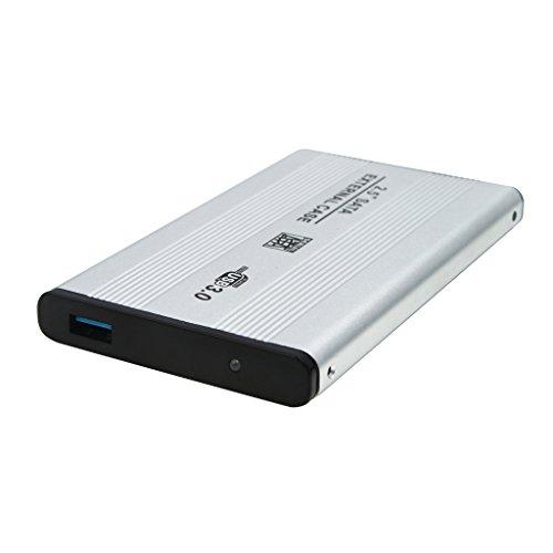 2.5 Zoll SATA USB 3.0 Festplatte HDD Gehäuse Externe Laptop Scheiben Kasten - Silber