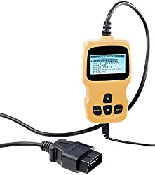Lescars Motor Diagnosegerät: OBD2-Diagnosegerät mit XL-LCD-Display, für MIT ECHTZEIT-INFOS, Liest und löscht Codes, Diagnose für 130 Komponenten (Auto Diagnose)