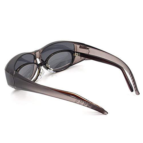 Polarisierte Sportsonnenbrille Fahrrad Schutzbrille Sonnenbrille Laufen Fahren Angeln Brille Fahrer Myopie Fahren Spiegel Radfahren Brille Sonnenbrille Anti-Fog Ideal zum Fahren ( Color : Ash )