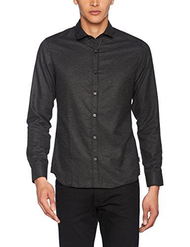 ONLY & SONS Herren Freizeithemd Onsbaily Ls Melange Shirt Grau (Dark Grey Melange)