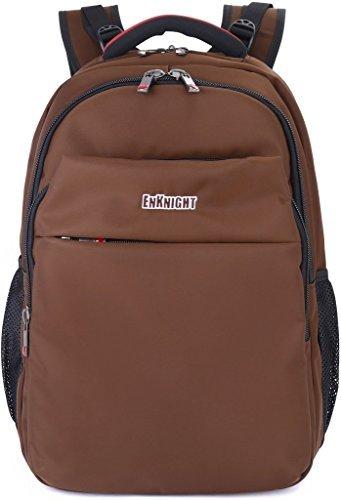 enknight 43,2cm Laptop Rucksack Reisetasche Schultasche Daypack Wandern Pack, Kinder damen Mädchen, coffee -