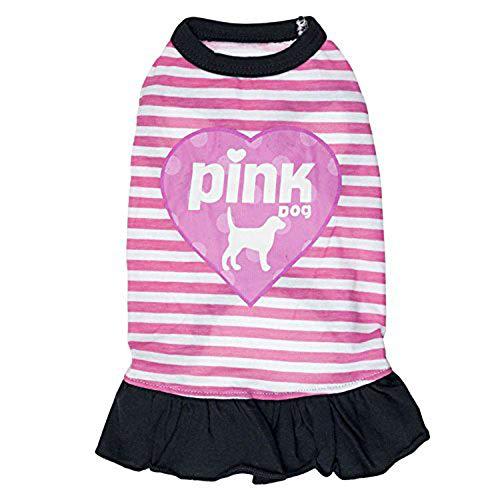 &liyanan Hundebekleidung Hemdkragen für kleine Hunde Mädchen Accessoires Welpe Katze Rosa Haustier Niedliches Sommerkleid Chihuahua Yorkie,A,S