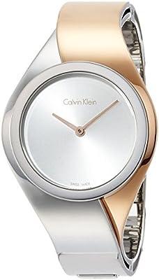 Calvin Klein K5N2S1Z6 - Reloj de pulsera Mujer, Acero inoxidable, color Multicolor