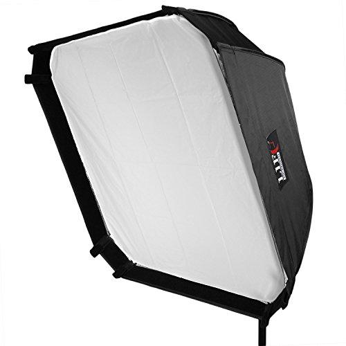 Life of Photo 70x70cm Softbox für Aufsteckblitz Blitz Diffusor mit Blitzhalter für Canon eos Nikon Yongnuo Nissin Sigma Sony Metz
