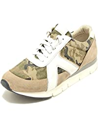 O.X.S. 2356G Sneaker Verde Militare Beige Pelle Tela Scarpa Uomo Shoes Men 14d9367b9e3