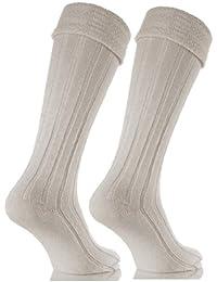 Chaussettes de kilt pour homme couleur crème taille 39-45