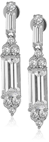 nicole-miller-modern-baguette-rhodium-drop-earrings
