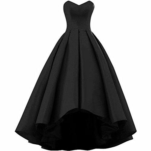 NaXY Plissee Abendkleider Sweetheart Ballkleid Blush schwarz Backless für Plus Size Abendkleider