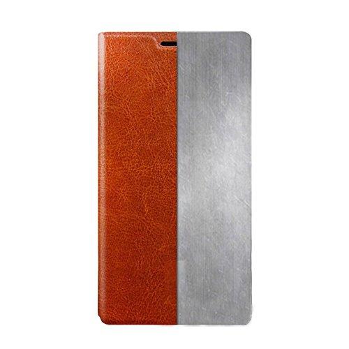 Taslar(TM) Vintage Style Leather Flip Stand Back Cover Case For Gionee Marathon M5 Plus Smart Phone, Champagne Gold (Black)