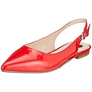 Buffalo Damen Azalia Slingback Ballerinas, Rot (Red 000), 40 EU