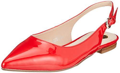 Buffalo Damen Azalia Slingback Ballerinas, Rot (Red 000), 39 EU