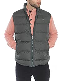 VEDONEIRE Mens GREEN Padded Gilet (3063) sleeveless vest coat