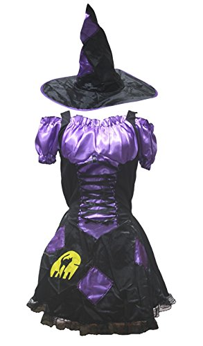 petitebelle Halloween-Kostüm lila Pretty Hexe Party Dress Up für Frauen Gr. One Size, violett