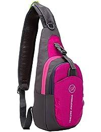 56a8494612 Annitnie Lightweight Chest Pack Sling Bag Waterproof Shoulder Backpack  Cross Body Bag Unbalance Rucksack for Travel Hiking Camping Dog…
