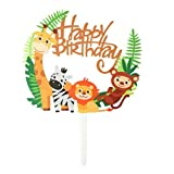 TOYMYTOY Toppers Cupcake Acrilico Animale - Cute Jungle Animals Cake Picks per DIY Baby Shower Decorazione Torta di Compleanno