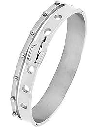 4f6342e3b592 La Ceinture Jewelbox rhodium 316L en acier inoxydable chirurgical Bracelet  pour ouvrir Cuff Kada Bracelet pour