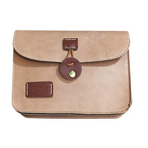 Produp Mode Frauen Handtasche Rundschnalle Retro Mode Einfach Einzel-Umhängetasche Messenger Bag