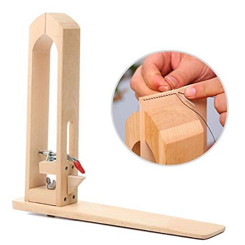 DIY Leathercraft Hand Stitching Schnürung Pony Pferd Lederhandwerk Nähen Clamp Tabelle Desktop Werkzeug -