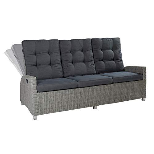 Modesto Living Dreisitzer Sofa Grau Polyrattan Gartenmöbel Lounge