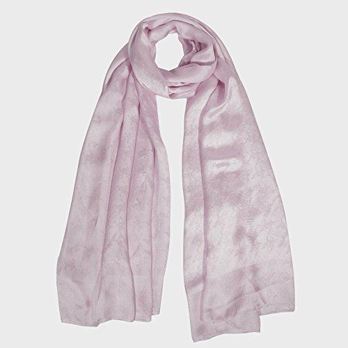 IRRANI soie foulard de soie femme écossaise des châles. Gris rose pâle