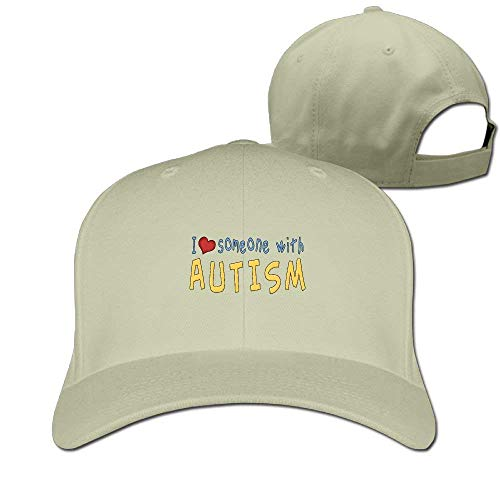 I Love Someone with Autism Solid Travel Cap Baseball Cap Sport Hats for Men and Womens Fitted Hats