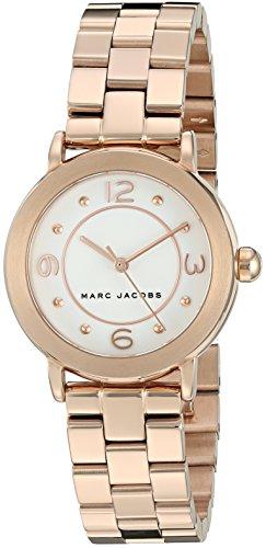 Marc Jacobs Femme Bracelet & Boitier Ton-Or - en Acier Inoxydable Quartz Cadran Blanc Montre MJ3474