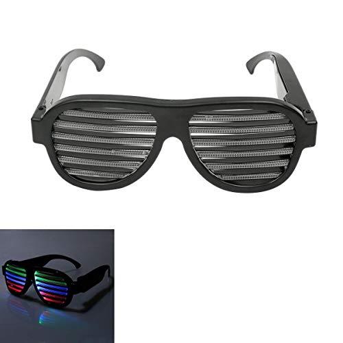 Snowboard Schneebrille Anti-Fog-Brille, Sound Control LED-Blinkbrille Party Bar Fashion Sonnenbrillen Brillen Radfahren Motorrad Motorschlitten Skibrille