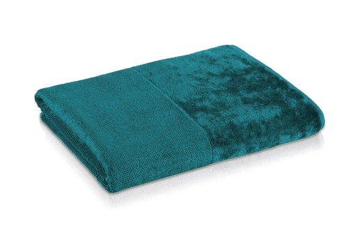 möve Bamboo Luxe Handtuch 50 x 100 cm aus 60% Baumwolle / 40% Viskose aus Bambus-Zellstoff, ocean