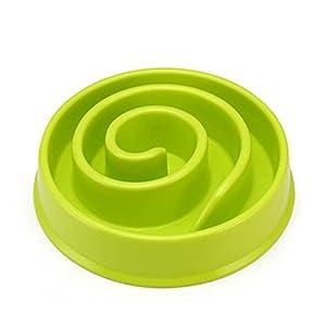 UEETEK Gamelle pour chien Gamelle Anti-glouton conçue pour une alimentation plus lente - Vert