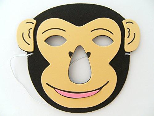 Maske Schimpanse f. Kindergeburtstag Karneval Fasching Tier Tiere Masken Theater Zoo Affe ()