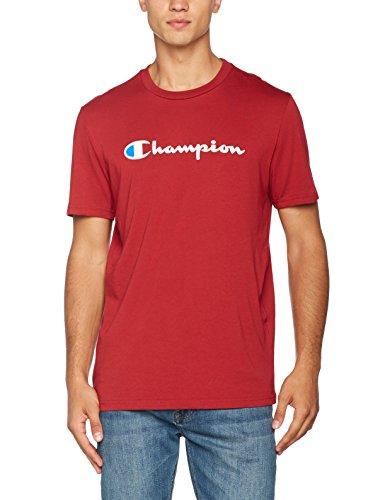 Champion Herren T-Shirt Crewneck T-shirt - Institutionals, Rot (Cmr), XX-Large