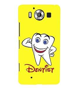PrintVisa Dentist Doctor Logo 3D Hard Polycarbonate Designer Back Case Cover for Microsoft Lumia 950 :: Nokia Lumia 950