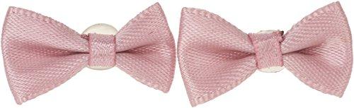 Damen Ohrstecker Satin Bow Schleifen Rockabilly Ohrringe (Altrosa) (Kleid Bow Satin)