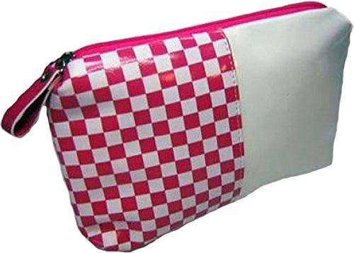 Pinkes SKA Schachbrettmuster Rockabilly Kosmetik Täschchen Emo Cosmetic Bag (Vans-schachbrettmuster)