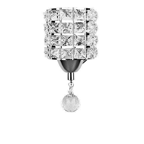 ONEVER-Lmpara-de-pared-de-cristal-con-conmutador-de-cable-para-sala-de-estar-Cocina-y-porche-7W-E14-Lmpara-de-luz-de-vela-incluida-como-regalo-AC-85-250V-plata
