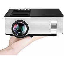 Mini Proyector Wifi, ELEGIANT Proyector WiFi LCD Bluetooth HD LED Full Color Max 180, Portátil, 800 x 480 Resolución HDMI USB SD AV TV VGA TF, para Entretenimiento y Cine en Casa