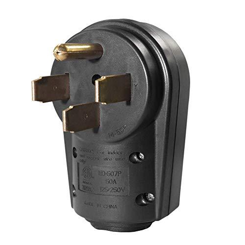Generator Power Inlet (Fishyu 14-50P RV American RV High Power Connector Plug ETL Male Plug 50A)