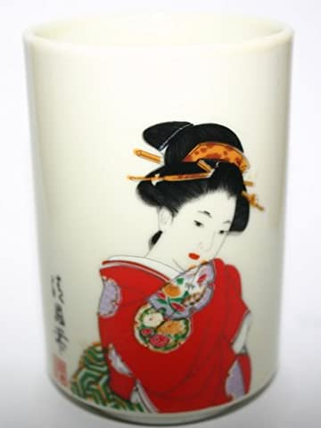 Antique Yamato dynasty Porcelain Sake Cup Hand Painted With Inscription Imperial House of Japan