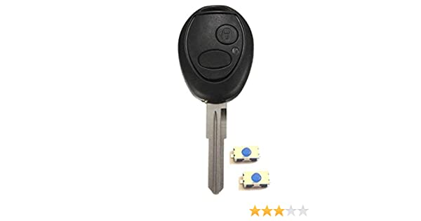 Coque de cl/é plip 2 boutons pour Land Rover Discovery 2 TD4 TD5 Rover 75 neuve SANS LOGO 2 switchs /à souder